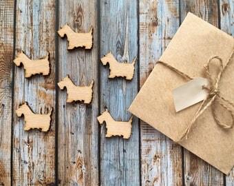 8 Pieces Dog Wood Tags, Wood Blanks, Pendants, Wood Pendant, Wood Craft Supply, Wood Supplies, Wood Squares, Craft Wood, Wood Pendants