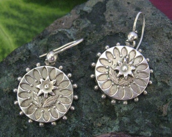 Sterling Silver Victorian Earrings