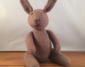 Bunny, knitted bunny rabbit, knitted rabbit, brown bunny, UK seller