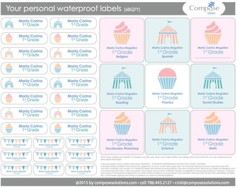 Circus - Your personal waterproof labels (68 Qty) Free Shipping