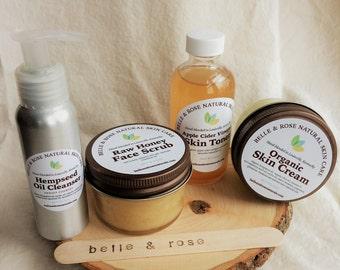 Deluxe Organic Skin Care Starter Set