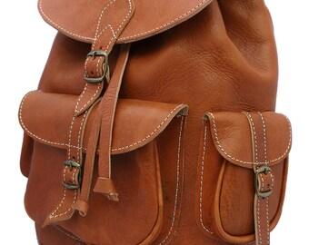 Handmade  Leather Backpack Tan