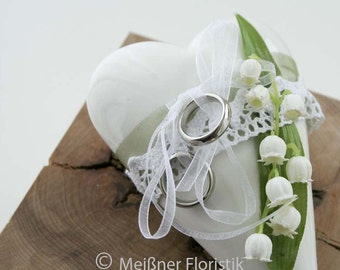 Ring pillow white lily of the Valley wedding