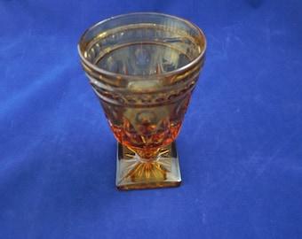 Vintage Amber Glass Goblet 1980's