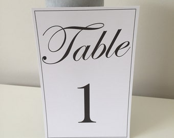 Table numbers - customised / wedding / event / personalised