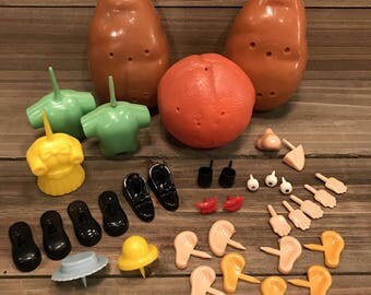 Vintage (1969) Hasbro Mr. Potato Head and Oscar the Orange Parts