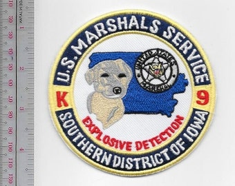 K-9 US Marshal Service USMS EOD Explosive Detection Canine Unit Southern District of  Iowa