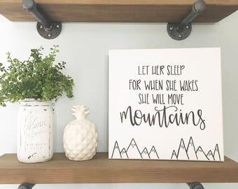 Let Her Sleep - Canvas