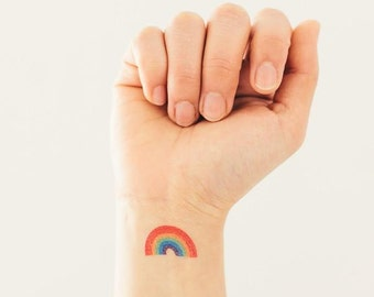 Rainbow - Temporary Tattoos // Colorful // Cute // Travel // Tumblr Style // Summer // Party