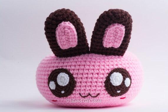 Amigurumi Bunny Pencil Holder : Items similar to crochet rabbit pen holder bowl