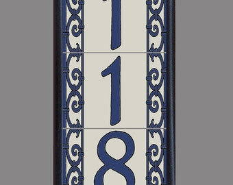 Frame tile house number frame address tile by malibutileworks for House number frames