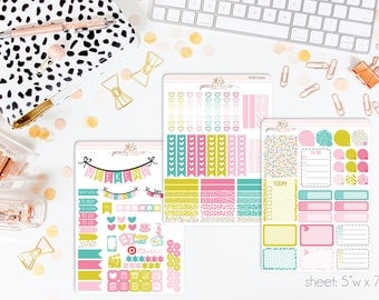 Wild VERTICAL Weekly Kit // 140+ Matte Planner Stickers // Perfect for your Erin Condren Life Planner // WKV0110