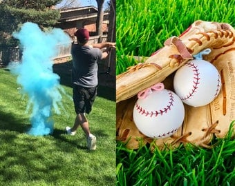 Gender Reveal Baseball, Gender Reveal Ideas, Baseball Gender Reveal, Gender Reveal