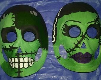 Frankenstein and Bride mask set