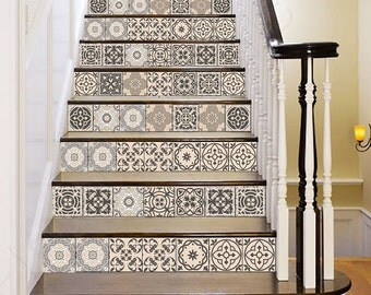 Carrelage Stickers Decor Ideas Bathroom Tile Sticker Set Of 24 Tiles Decal  Mixed Tiles For Walls