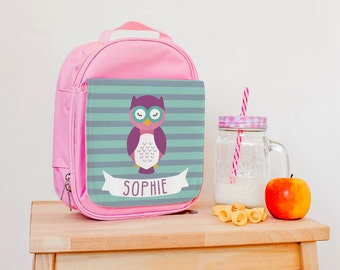 Children's Insulated Lunch Bag - Owl Lunch Bag - Personalised Children's Lunch Bag