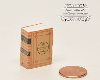 1:12 Dollhouse Miniature Dictionary/ Miniature Book AZ IM65765
