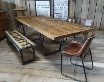 calia style vintage industrial style reclaimed extending dining table