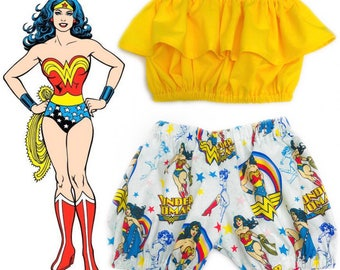 Wonder Woman Shorts/Bloomers Set