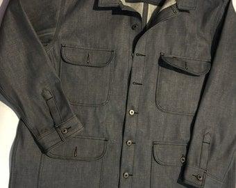 The field coat 13.5 oz. kaihara light grey