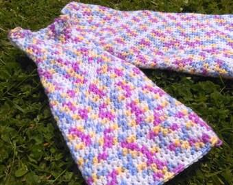 Crocheted bamboo cotton baby pants longies