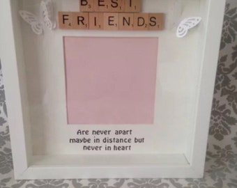 Best Friends Are Never Apart Scrabble Photo Frame