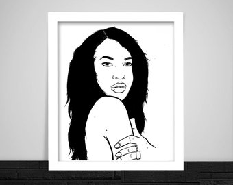 Aaliyah Print