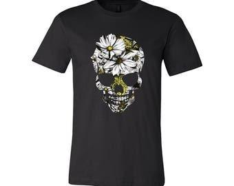 T-SHIRT KOMOA Natural skull BLACK