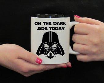 On The Dark Side Mug, Star Wars Design, Darth Vader Mug, Star Wars Fan Mug