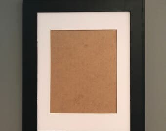 Add A Black Matted Frame to Any Burlap Print purchase!