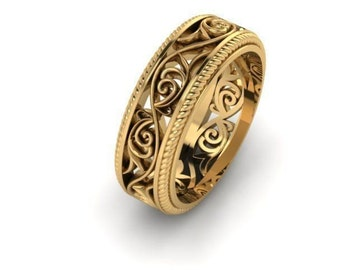 Golden Ring with floral tracery