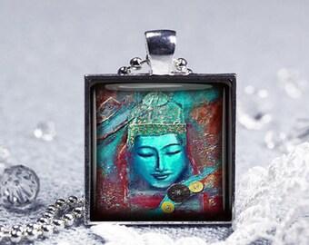 Buddha Necklace Buddha Pendant Buddha jewelry Spiritual Jewelry Gifts Meditation Jewelry Gold Buddha Meditation Necklace Yoga Jewelry gift