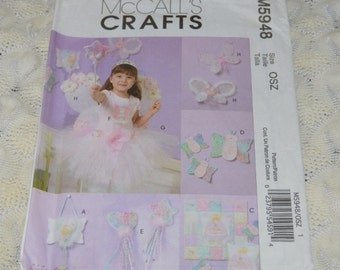 McCall's Crafts Pattern M5948 Uncut Wand Purse Skirt Butterfly and Wings