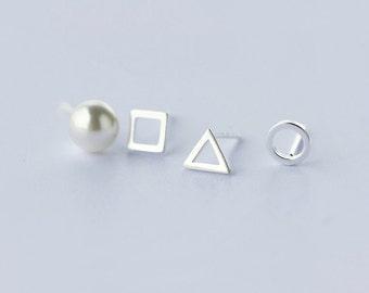 Sterling Silver Stud Earrings Pack