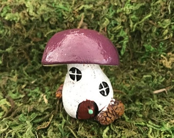 Miniature Teeny Bolete Mushroom Fairy House