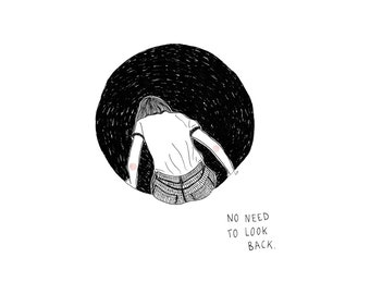 No Need To Look Back Illustration