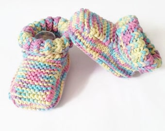 Knitted baby booties, newborn shoes, Baby shoes, Coming home, Baby booties, Knitted newborn shoes, Gender neutral newborn knitted booties