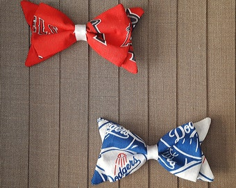 Baseball Hair Bows