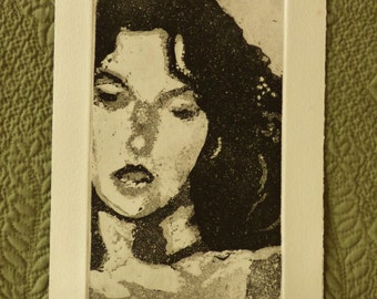 "Etching with Aquatint ""Wounded In Action"" Original Fine Art Etching"