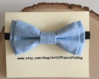 Baby bow tie / Toddler bow ties with black adjustable Neck Bands