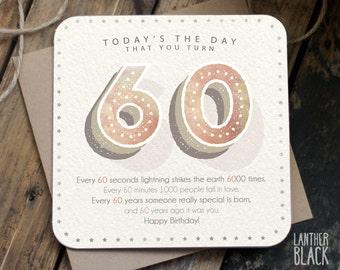 Funny 60th birthday card / 60th birthday / 60 birthday / card for friend / age card / NN60