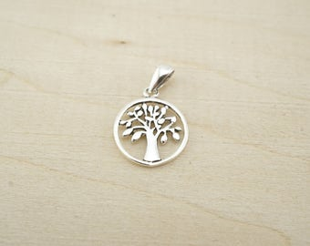 Sterling Silver Small Tree Charm - Sterling Silver Wholesale - Wholesale Sterling Silver Charms - Sterling silver family tree
