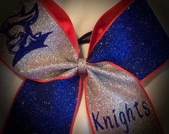 Cheer Bow CHOOSE Glitter Colors/Team/Text*SPECIAL SQUAD Rates*