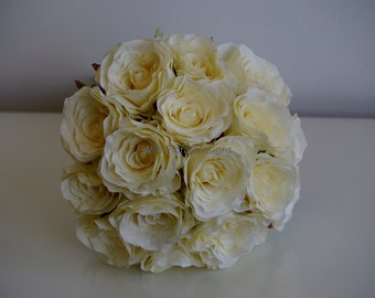 Ivory silk, artificial brides bouquet