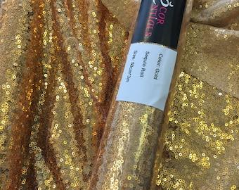 Gold sequin table runner roll 50cm x 3m
