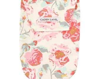 Felicity's Floral | Pink and Aqua Diaper and Wipe Holder