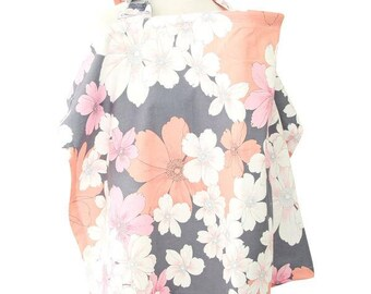 Addison's Floral | Gray and Coral Nursing Cover