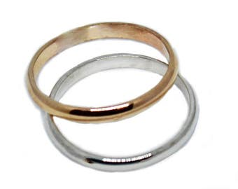 2mm Fitted Toe Ring in Sterling Silver, Gold Fill or 14k Yellow Gold