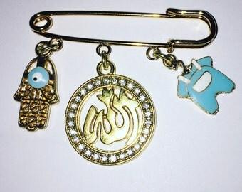Allah baby pin.  Allah stroller pin. Muslim baby gift.  Stroller pin