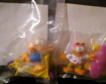 Vintage 1989 McDonalds GARFIELD Happy Meal Toys!! NEW in package!